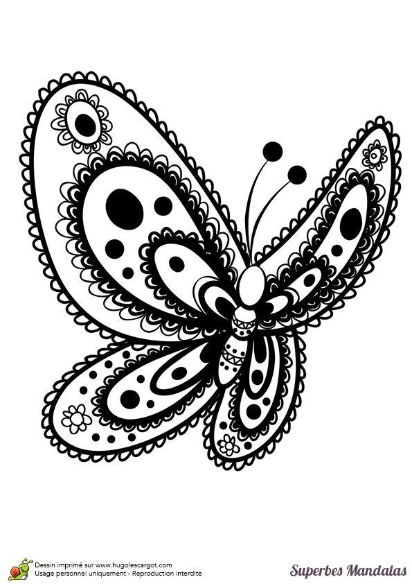 Les 13 meilleures images du tableau coloriage papillons sur pinterest papillons livre de - Coloriage de papillon ...