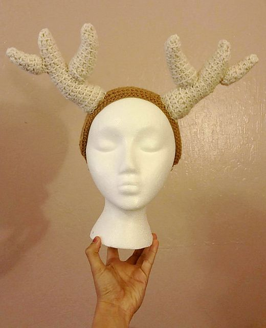 Deer antlers headband available for sale in my Etsy shop: https://www.etsy.com/listing/276316912/deer-antlers-headband?ref=listing-shop-header-3