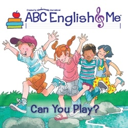 """Off to the park and playground! The fourth unit of ABC English & Me introduces the linguistic structure   """"Can you…?/Yes, I can!"""" The children meet Teddy Bear, review clothes and body parts, and engage in playground songs, games, and movements on   imaginary seesaws, swings, and slides. www.abcenglishandme.com"""
