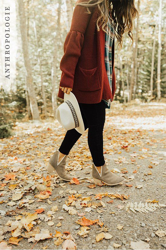 booties | maroon cardigan | hats | outdoor shoot | black jeans | plaid | dressy / casual | fall outfits | cozy | off white hats