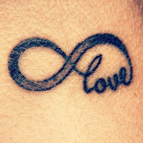 Small Cute Black Short Love Quote Tattoos For Women