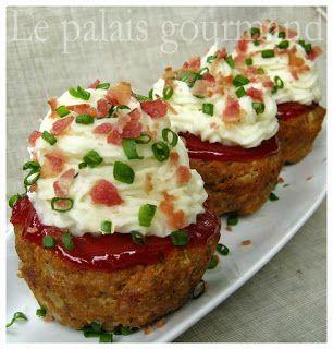 Le palais gourmand: Cupcakes de pain de viande et purée de pommes de terre