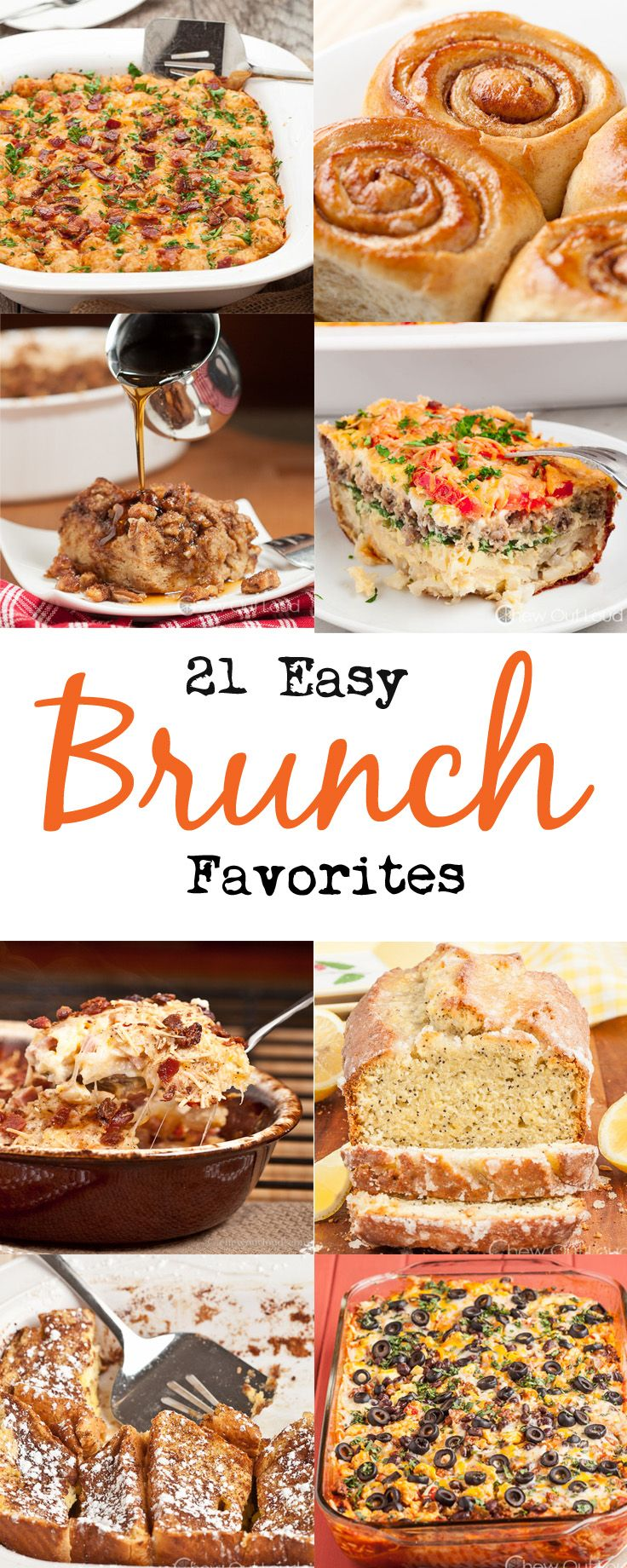 Brunch time is the best, and here are some easy brunch favorites your family will love. Most of them are make-ahead recipes! #brunch #recipes #breakfast #recipes #easy #brunch #recipe