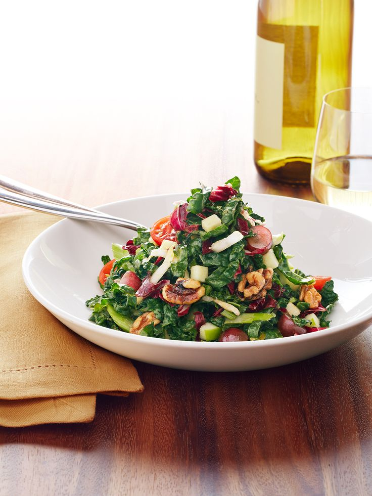 Shanghai Waldorf Salad - Fresh Kale, Crisp Apples, Candied Walnuts | Which 3 ingredients will you cook with? https://www.facebook.com/pfchangs/app_1380384468863341Pf Changs Kale Salad, Crisps Apples, Miso Lim Vinaigrette, Grape Tomatoes, Change Shanghai, Lights Miso Lim, Healthy Lunches, Fresh Kale, Candies Walnut