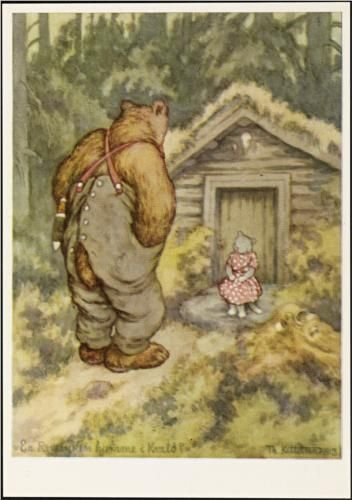Er reveenken hjemme i kveld - Theodor Kittelsen (Is the fox widow home tonight?)