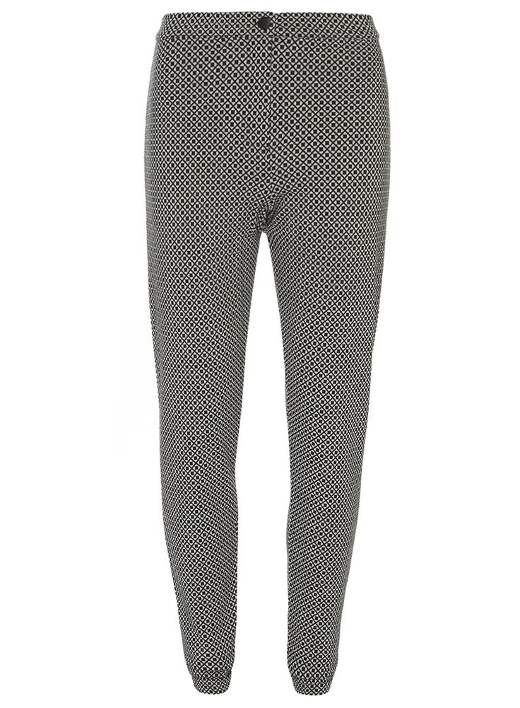 Tall Black and White Printed Treggings
