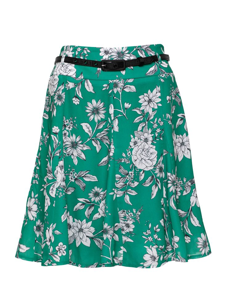 Alessia Floral Skirt | Jewel Green | Floral Skirts
