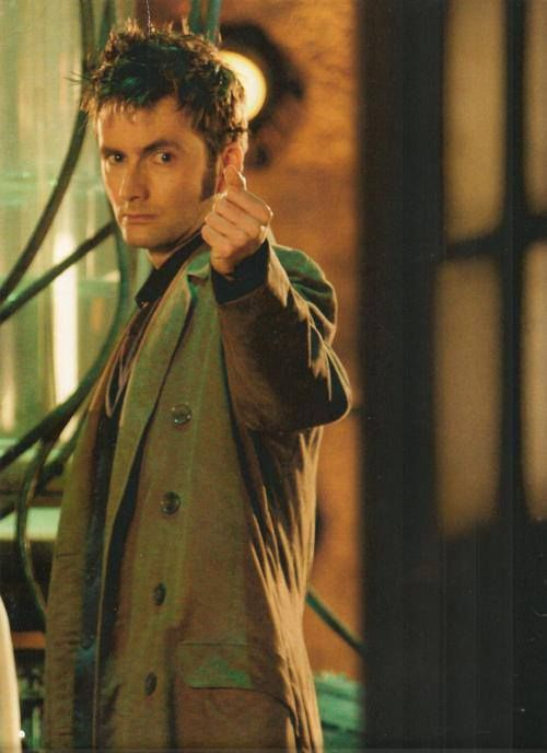 Now my Doctor, I've seen whole armies turn and run away. And he'd just swagger off, back to his TARDIS. And open the doors with a snap of his fingers. The Doctor. In the TARDIS. Next stop: Everywhere.