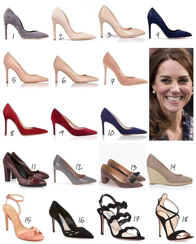 Kate's new pumps in 2016, including Rupert Sanderson, LK Bennett, & Gianvito Rossi