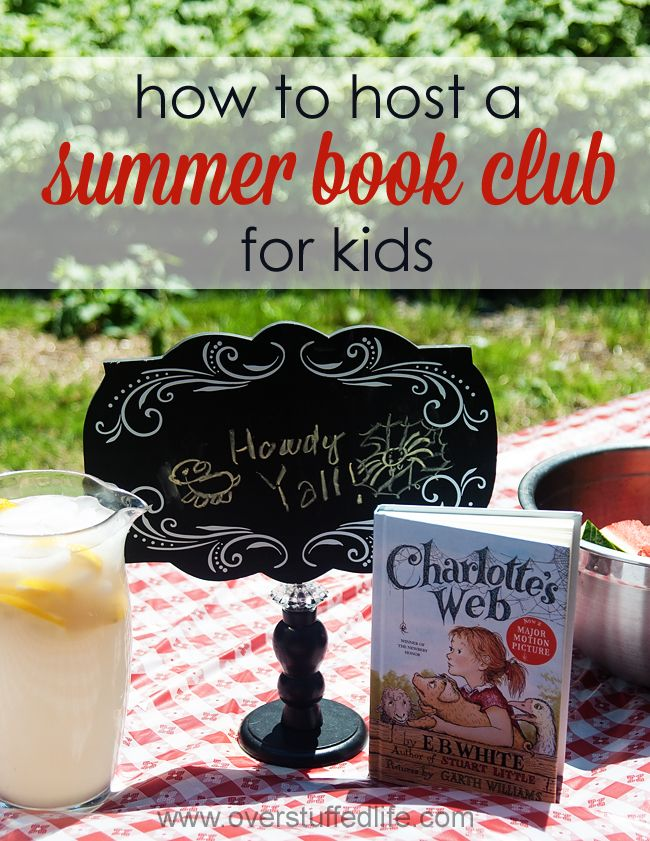 Tips and tricks for hosting a summer book club for your children. A really fun way to get your kids excited about reading in the summer is to host a summer book club for them! What better way to encourage reading than to throw a party with their friends! #overstuffedlife