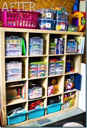 homeschool storage!Homeschool Organic, Schools Room, Projects Simplify, Organic Ideas, Homeschool Storage, Homeschool Room, Storage Room, Storage Ideas For Tots,  One-Arm Bandit