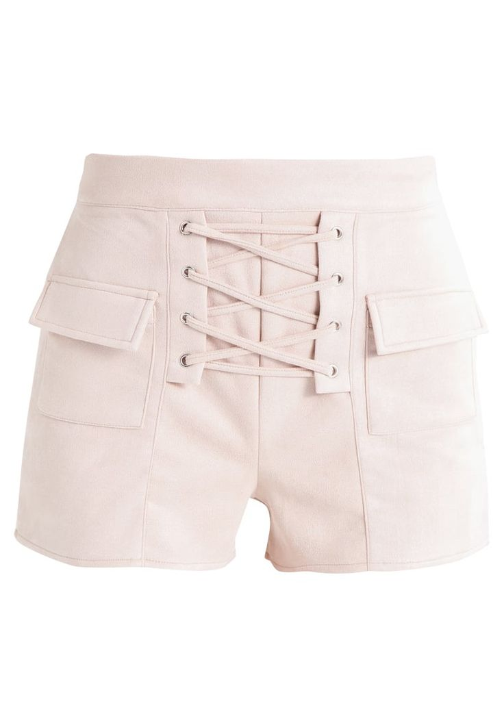 Missguided LACE UP FRONT - Shorts - stone for £28.99 (30/11/17) with free delivery at Zalando