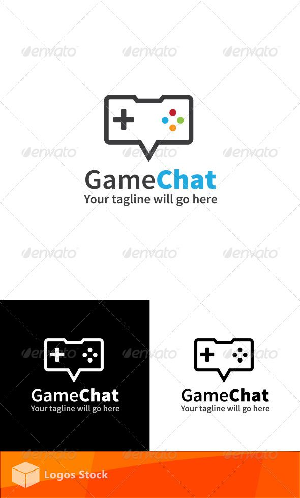 Gaming Logo - Game Chat — Vector EPS #video game logo #vector • Available here → https://graphicriver.net/item/gaming-logo-game-chat/4583515?ref=pxcr