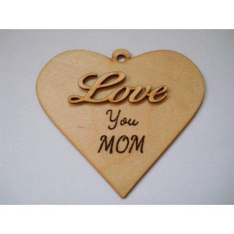 Ajándék tábla Love you mom felirattal anyának, hogy tudasd vele, gondolsz rá.