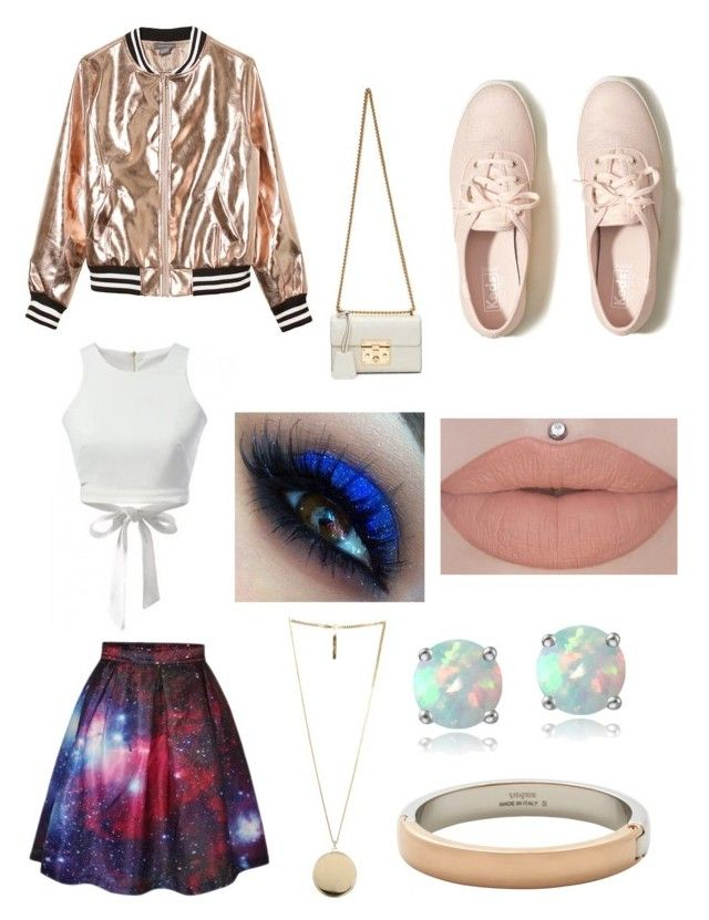 Pink tumblr girl by olahtory on Polyvore featuring polyvore, fashion, style, Sans Souci, WithChic, Hollister Co., Gucci, Vita Fede, Glitzy Rocks, Givenchy and clothing