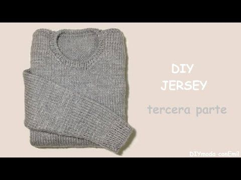 Cómo tejer jersey o sueter de hombre, 1a de 3 partes (MANGAS) - YouTube