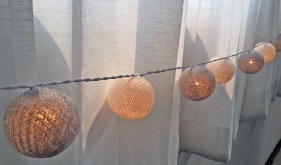 mariage de coton à la main boule décoration blanc par cottonlight, $15.00