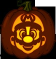 Pumpkin Carving Patterns and Stencils - Zombie Pumpkins! - Mario pumpkin pattern - Super Mario Bros.