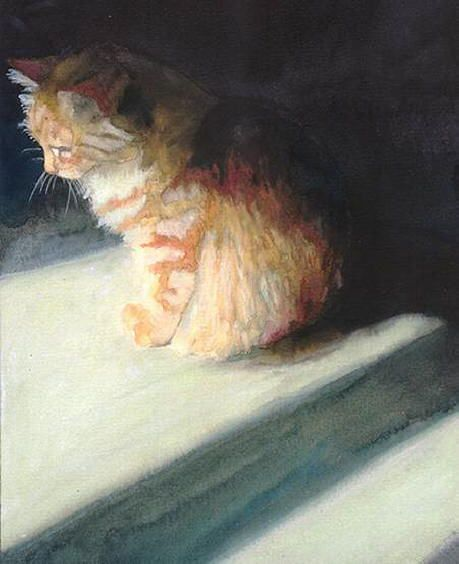 Cat portraits. Cat Shadow - Alex Carter #cat #painting