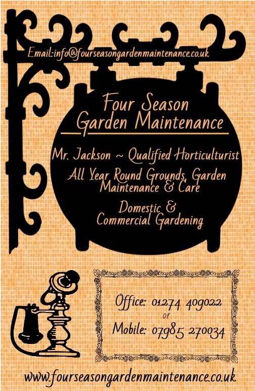 Four Season Garden Maintenance Bradford Gardener   Chris Jackson  Info@fourseasongardenmaintenance.co.uk