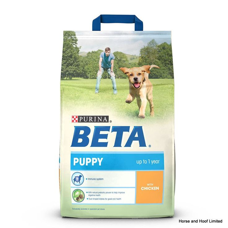 Beta Puppy with Chicken Beta Puppy with Chicken provides young dogs with the wide array of nutrients that they need for the healthy development of their physical & cognitive health.