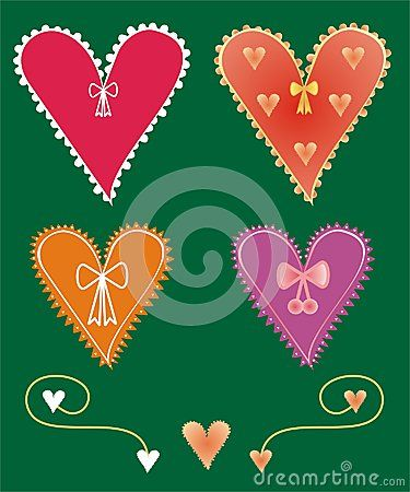 #Set of #decorative #heart #shapes
