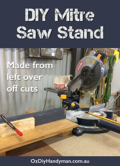DIY mitre saw stand made from left over off cut pieces of timber. It's simple and free!