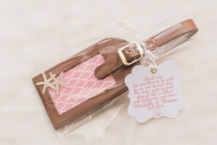 Custom Luggage Tag Wedding Favors See more here: http://www.etsy.com/shop/lovetravelsfavors