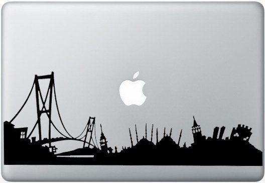 Macbook Funny Humor Decal Sticker Istanbul Skyline