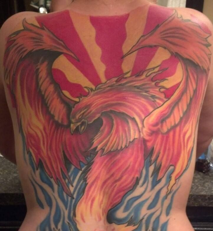 phoenix arizona tattoo by brando at sixth street social club in tulsa oklahoma phoenix. Black Bedroom Furniture Sets. Home Design Ideas