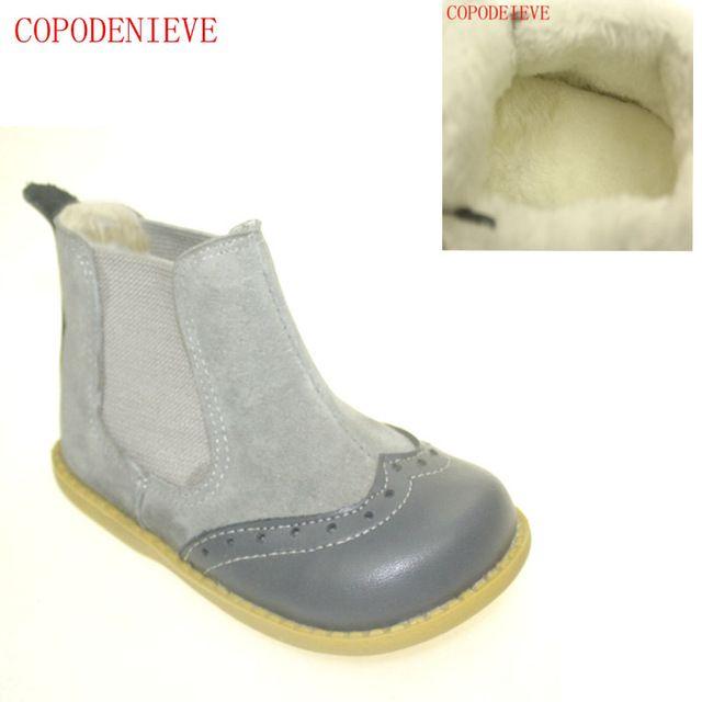 COPODENIEVE children's snow boots girls fashion warm winter waterproof boots children shoes little and big girls brand boots