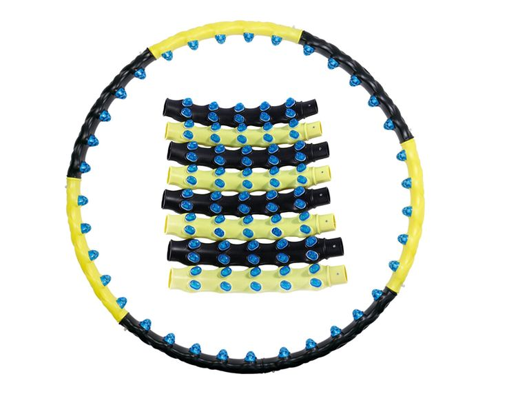 Detachable Magnetic Health Hoola Hula Hoop. It is Health Hula Hoop for Exercise or Weight Loss. It is made of 8 tubes that get assembled like vacuum cleaner extension tubes, 80 Massage Balls attached. If Air Cushion Projection may slight hurt your skin first, if you feel some Hurt, Wear more Cloth on waist and slowly increase Exercise time. NOTE: It is NOT recommended for someone with the illness or if pregnant.