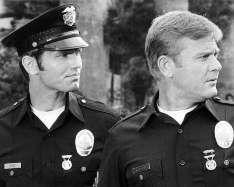 """""""Adam-12"""". Kent Mccord and Martin Milner shown (right to left)."""