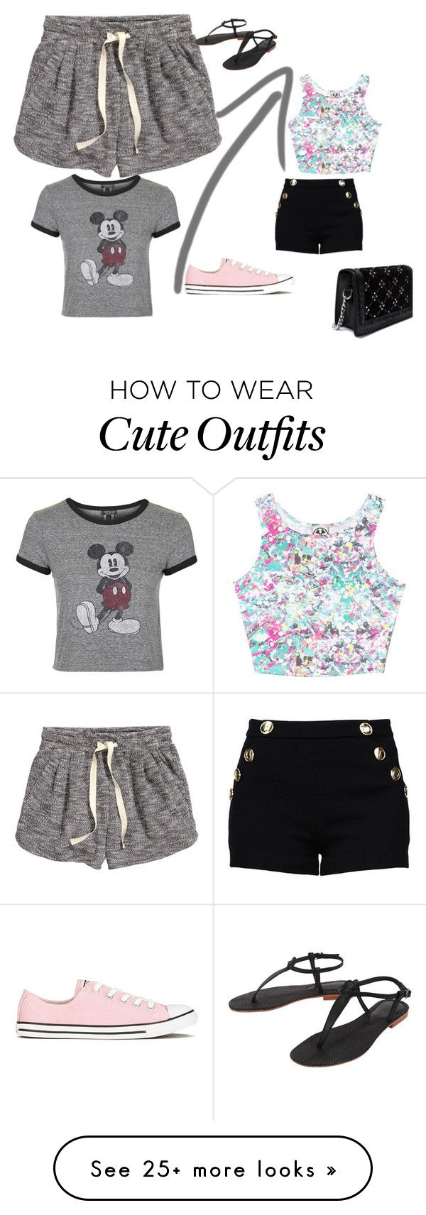 """""""Cute Outfit"""" by queenalisa on Polyvore featuring Civil, Boutique Moschino, H&M, Topshop, Converse, Cocobelle and Zara"""