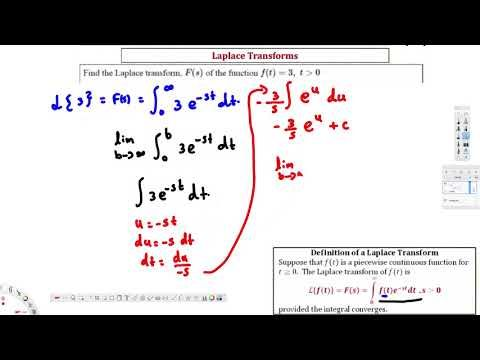 Ex  Find the LaPlace Transform of ft=3 Using Definition  - Differential ...