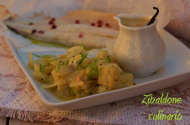 Zibaldone culinario: Branzino al forno con finocchi alla senape e salsa alla vaniglia