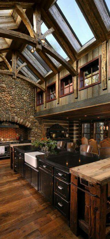 Rustic vaulted atrium ceiling rustic natural for Modern rustic design definition