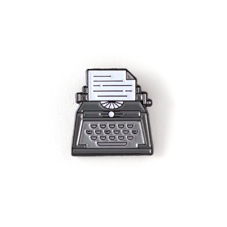 """For the writers. .75"""" wide Black Metal Black Rubber Clutch"""