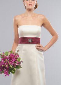 Mouwloze Kleine Maat Moderne Bruidsmeisjes Jurk met Sjerp