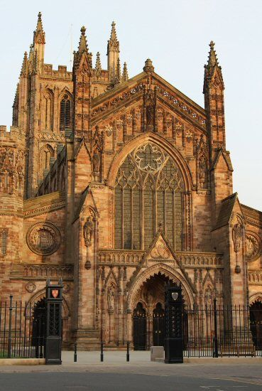 Hereford Cathedral, Herefordshire, England, dates from 1079