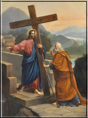 St. Peter, Apostle and First Pope - I am going to Rome to be crucified again, then Peter understood that it was his own fate that Jesus spoke of....