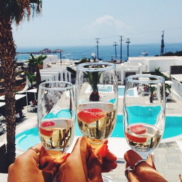 The next best thing to vacationing with good friends at one of the most vibrant Greek islands, is a refreshing welcome drink at Palladium Boutique Hotel, Mykonos! Cheers to all your joyful summer memories in Greece! #SeeYouInGreece Photo credit: aimazin via Instagram