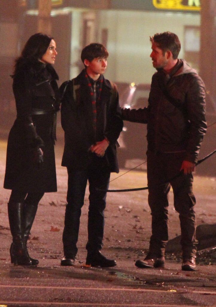 Awesome Lana Jared Sean (Regina Henry Robin) talking #Once #BTS the awesome Once…