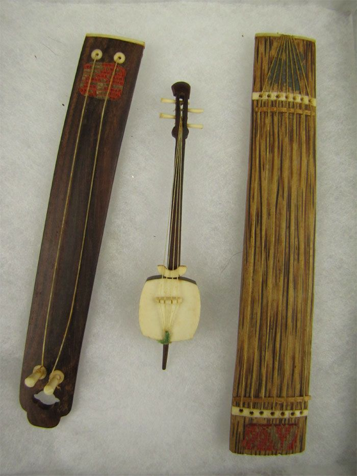 Asian made stringed instruments