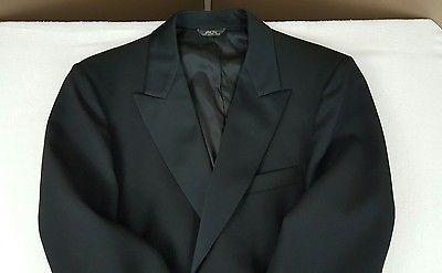 After six tuxedo waist 36 Jacket 42 Regular Black wedding formal vest bow tie