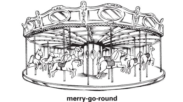 Merry-go-round - Definition for English-Language Learners from Merriam-Webster's Learner's Dictionary