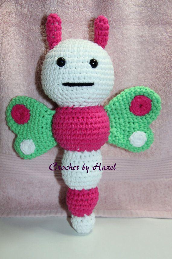 Crochet Butterfly Rattle by HazelCrochet on Etsy