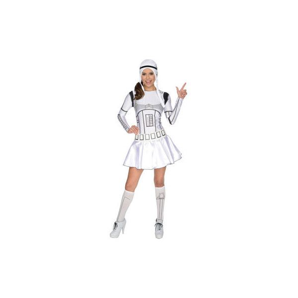 Female Stormtrooper Costume, Star Wars Fancy Dress for Women |... ($43) ❤ liked on Polyvore featuring costumes, womens halloween costumes, lady halloween costumes, stormtrooper costume, lady costumes and star wars costumes