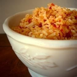 "Best Spanish Rice | ""Loved this easy recipe using chunky salsa and chicken broth. I garnished the finished rice with chopped cilantro. Yummy!"""