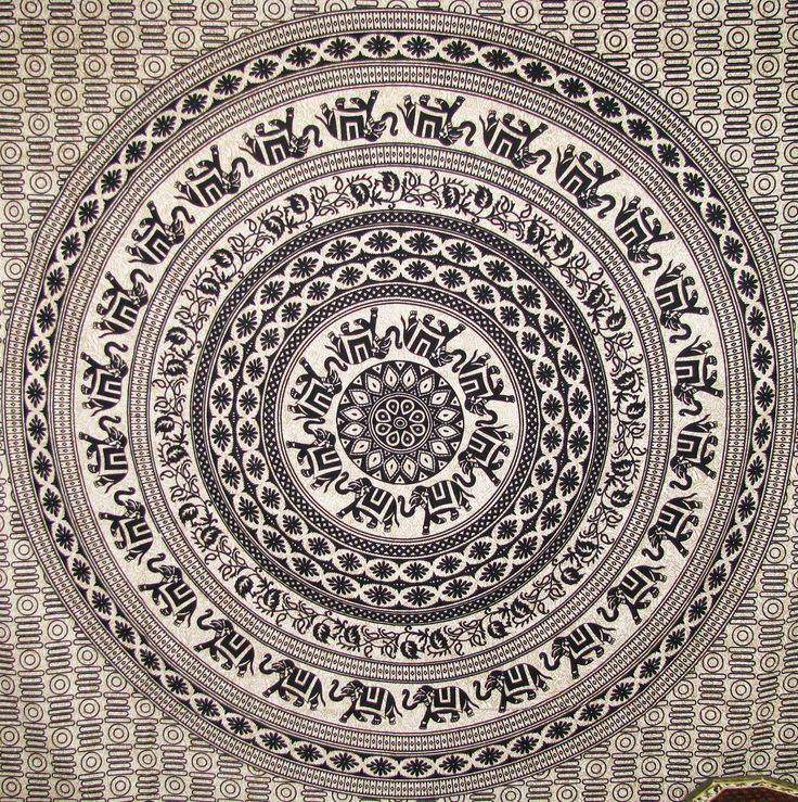 Mandala Bed Throws Wall Rug Hippie Tapestries Queen Size Throws Bohemian Decor